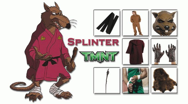HAVE YOUR OWN SPLINTER COSTUME FROM TEENAGE MUTANT NINJA TURTLES - FIND YOUR FUTURE