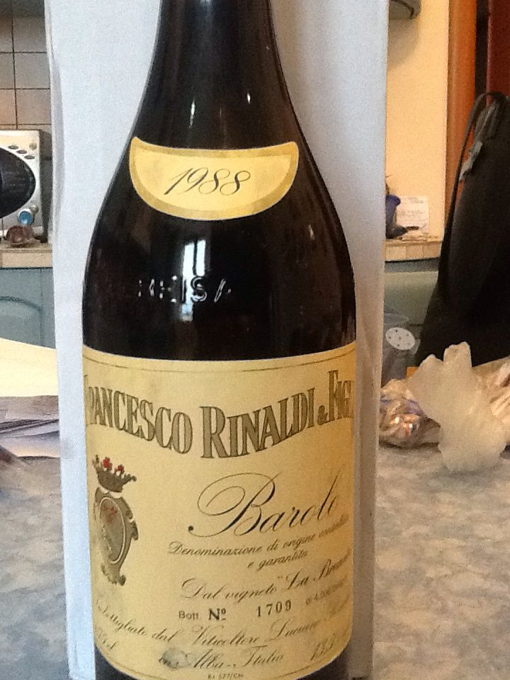 The limited edition Barolo 1988. Only 4000 bottles per year.