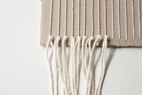 DIY telar casero para decorar paredes -