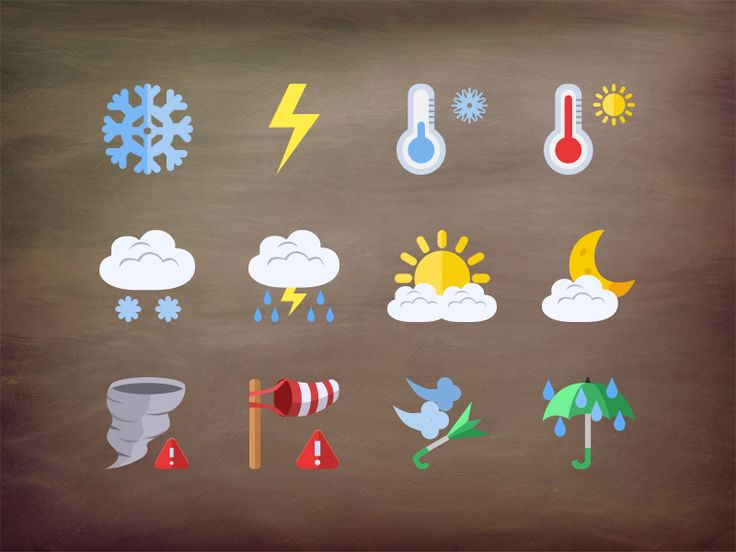 @2x Weather flat icons by Stafie Anatolie