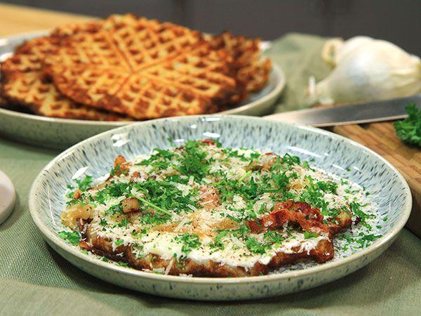 Våfflor med parmesan och sidfläsk | Recept.nu
