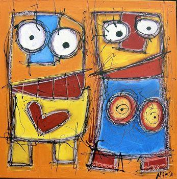 Après avoir observé les oeuvres d'un artiste-peintre : MIKA, nous avons constaté que nous pouvions en faire autant ! Ce ne sont en fait que des formes géométriques assemblées !! Place aux artistes !! Découvrir le monde Objectif : Reconnaître les formes...