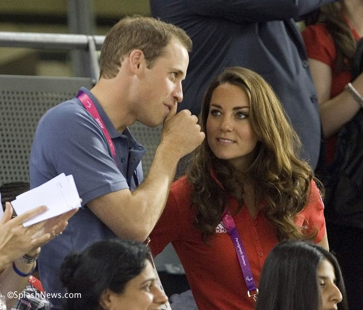 The Duke and Duchess of Cambridge watching the Paralympics, August 2012.