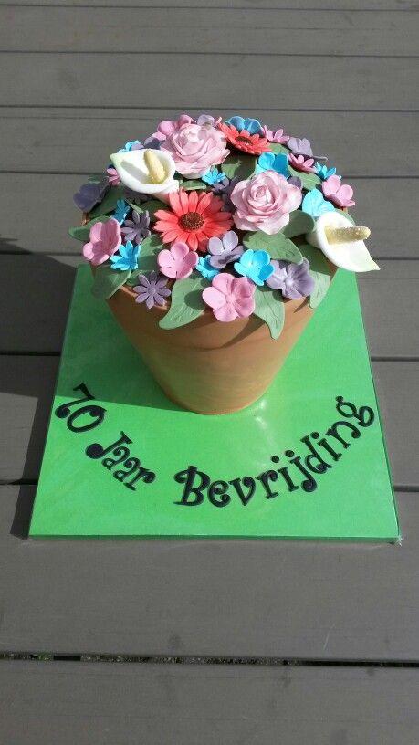 Voorjaars taart... bloempot taart