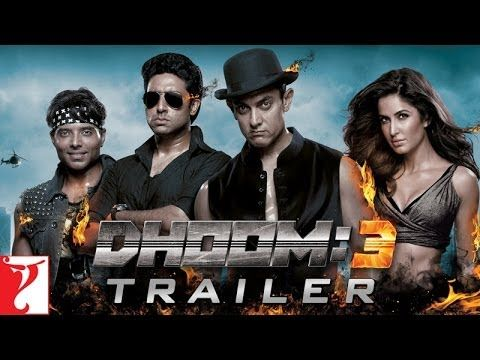 DHOOM:3 Theatrical Trailer - Aamir Khan | Abhishek Bachchan | Katrina Kaif | Uday Chopra - YouTube