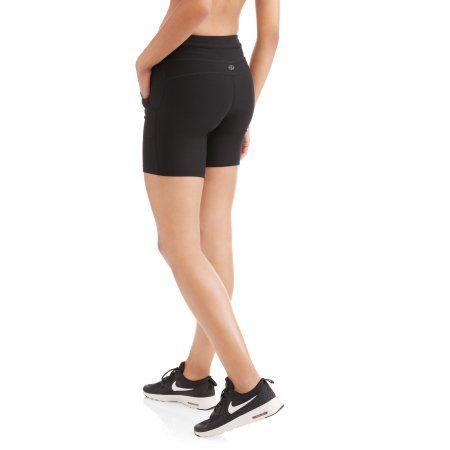 N.Y.L. Sport Women's Performance Bike Shorts With Contrast Zip Pocket, Size: Medium, Blue
