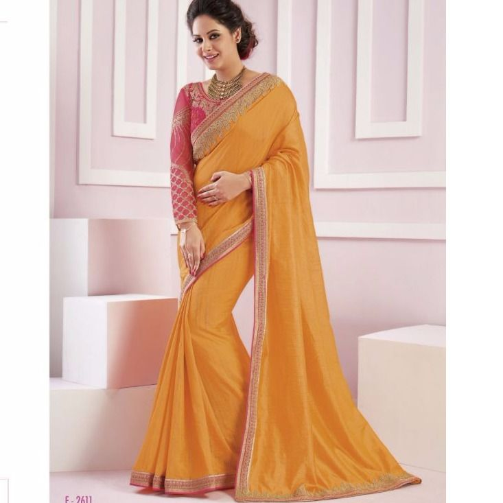Fancy Satin Silk Heavy Embroidery Orange Party Wear Saree. Product code (1004P2151) . SHOP NOW (Stock Available) 👈 . For order and details please call or whatsapp +91 9878010541📱 . ✓ Worldwide Shipping ✓ Quality Product ✓ Satisfied Customer Service ✓ Easy Return Policy