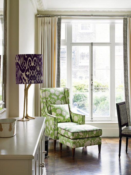 Kensington House Arbeitsbereich, Zebrastreifen und maßgeschneiderte Möbel   – green interiors