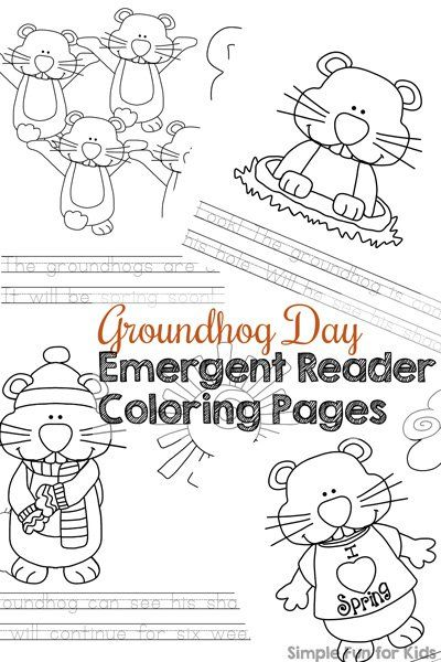 groundhog day emergent reader coloring pages - Coloring Pages Kindergarteners