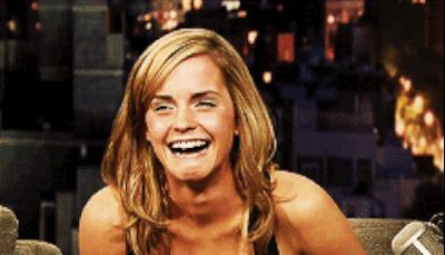 When your friend shows you a video of your karaoke performance from the night before. | 22 Emma Watson Reactions For Everyday Situations @mundym11