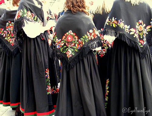Vest Agder Bunad (traditional hand-embroidered folk costume), Norway.