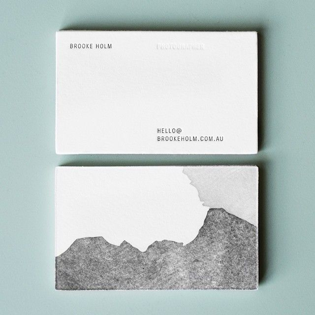 Greyscale business cards, simple, elegant.