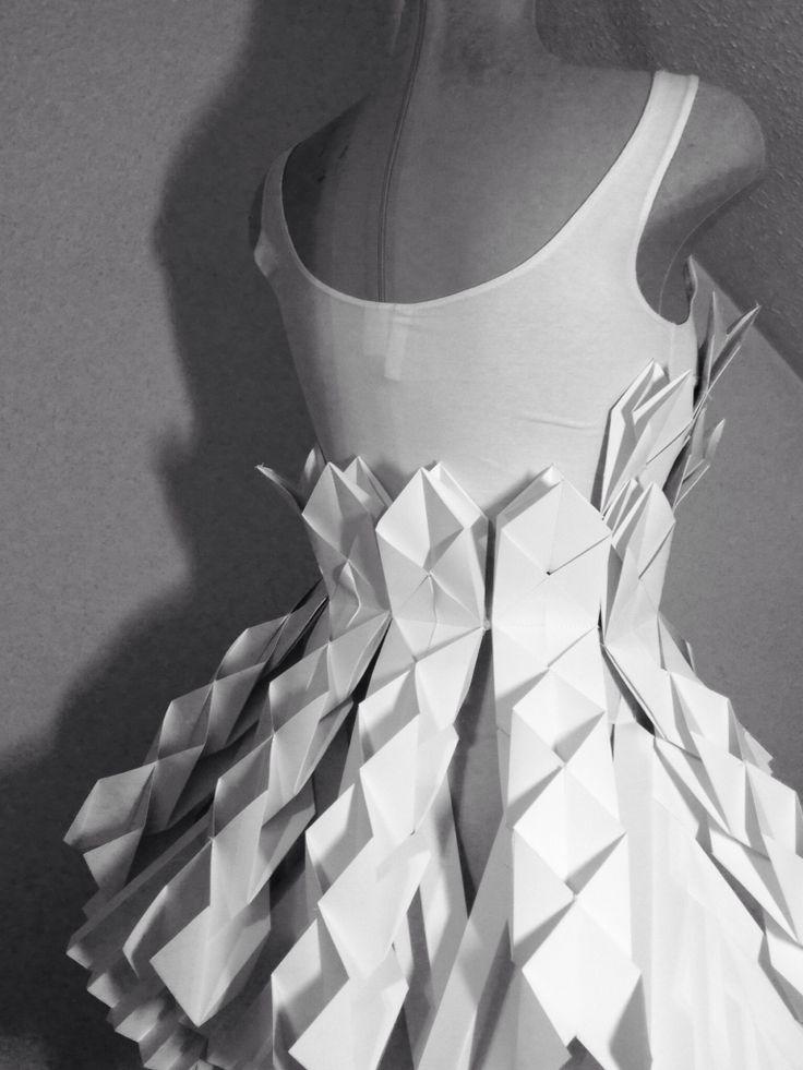 Paperdresses designed for a fashionshow by EDINAS paper installations, Budapest www.facebook.com/edinaspaper