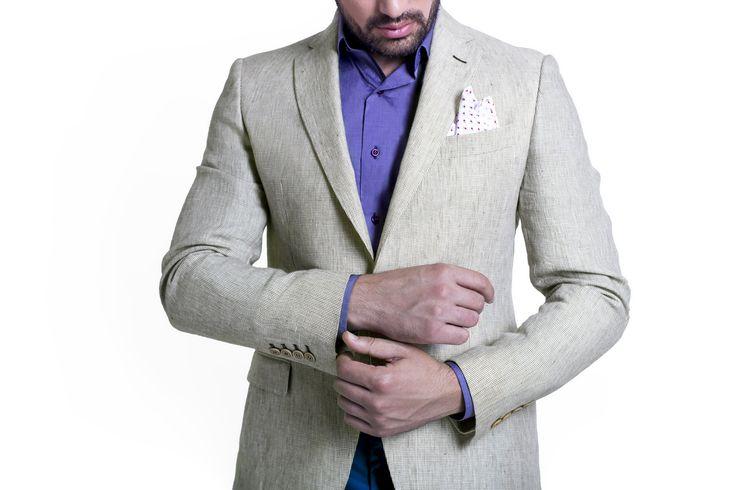 Beige Linen Jacket