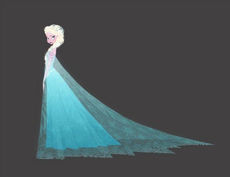 Elsa concept art from #Frozen
