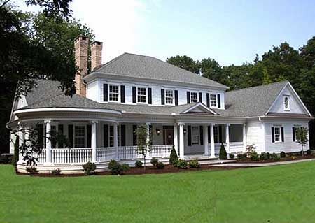 elegant country house plan, traditional