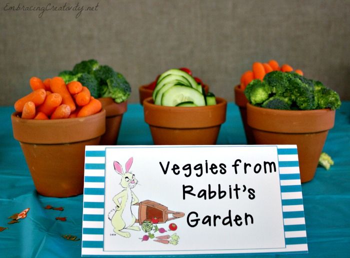 Winnie the Pooh Party - Rabbit's Garden - Disney Side