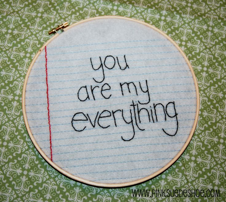 69efd75fc Simple lovely craft ~ A Little [Embroidered] Love Note Tutorial by  pinksuedeshoe