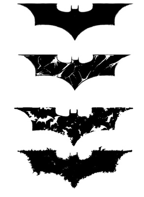 Batman symbol tattoo ideas. I want to get a small one of these on the inside of my wrist