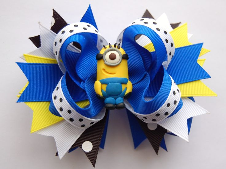 minions despicable me | Despicable Me Inspired Minion Large by RosebudsBoutiqueBows