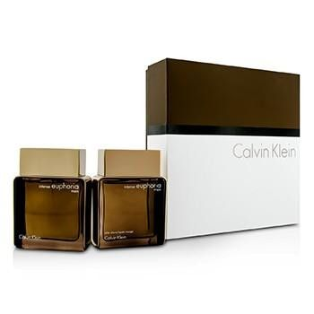 Euphoria Intense Coffret: Eau De Toilette Spray 100ml-3.4oz + After Shave 100ml-3.4oz - 2pcs