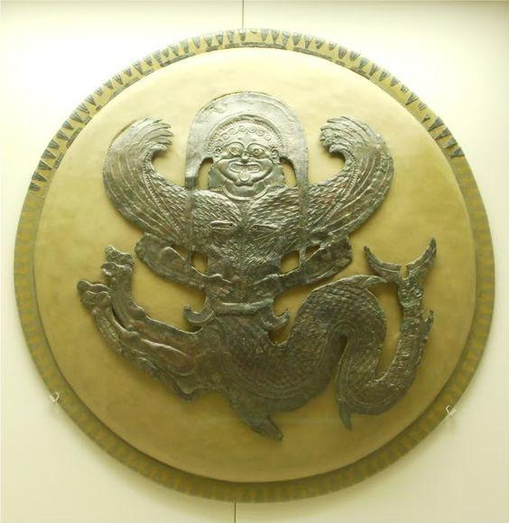 Greek hoplite shield.