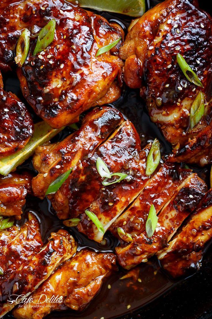 Honey Garlic Sriracha Chicken - Cafe Delites
