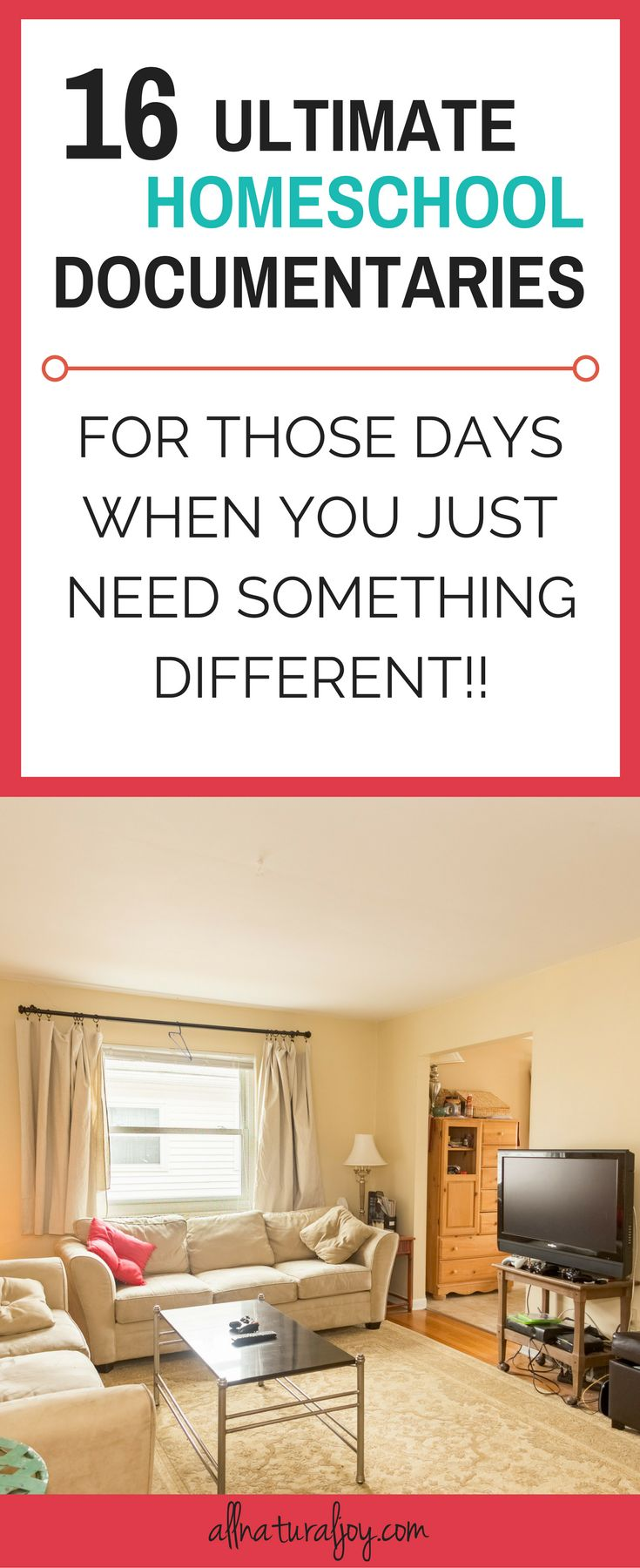 For those homeschool days when you are not sure what to do, it's always a good idea to have a list of good and educational things that you can watch via @Pinterest.com/allnaturaljoy_