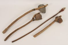 indian artifacts | Four Native American Indian artifacts including a hammerstone, axe ...