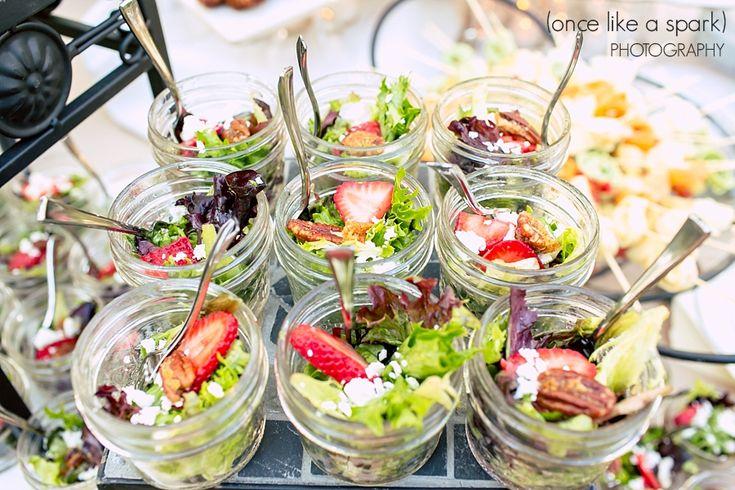 Healthy Party Ideas Salad In A Mason Jar Strawberry