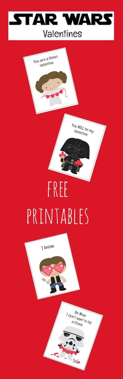 These Free Star Wars Valentine Printables feature Princess Leia, Darth Vader, Han Solo and a Stormtrooper. Perfect for classroom Valentine's Day parties!