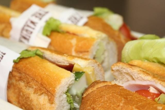Have you tried our delicious filled baguettes, made fresh each morning? Pair it with one of our fruit salads for a quick healthy lunch. Yum! http://on.fb.me/1GqPIuM