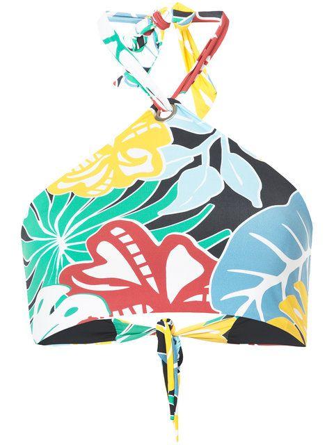 Patbo Neckholder-Bikini mit tropischem Print