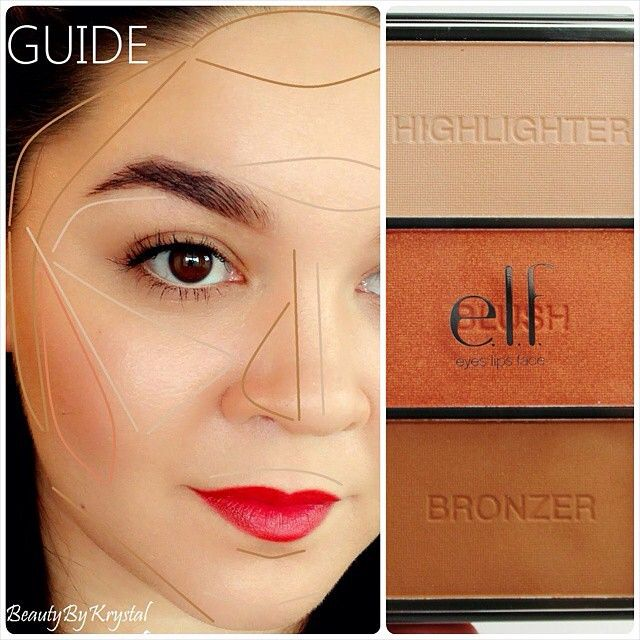 489 best elf product swatches images on pinterest make up blush bronzer and highlighter application using the cheeky glow palette from the elf holiday 2014 collection ccuart Choice Image
