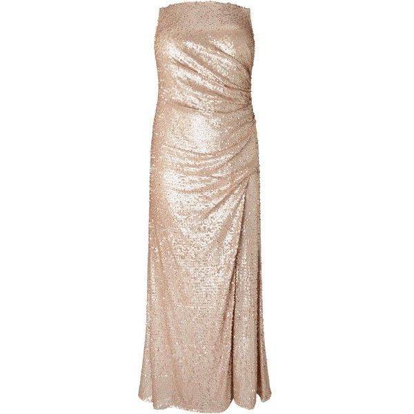 Adrianna Papell Plus Size Sequin Pailette Maxi Dress ($220) ❤ liked on Polyvore featuring dresses, plus size mini dresses, plus size holiday dresses, pink sequined dresses, plus size maxi dresses and plus size evening dresses