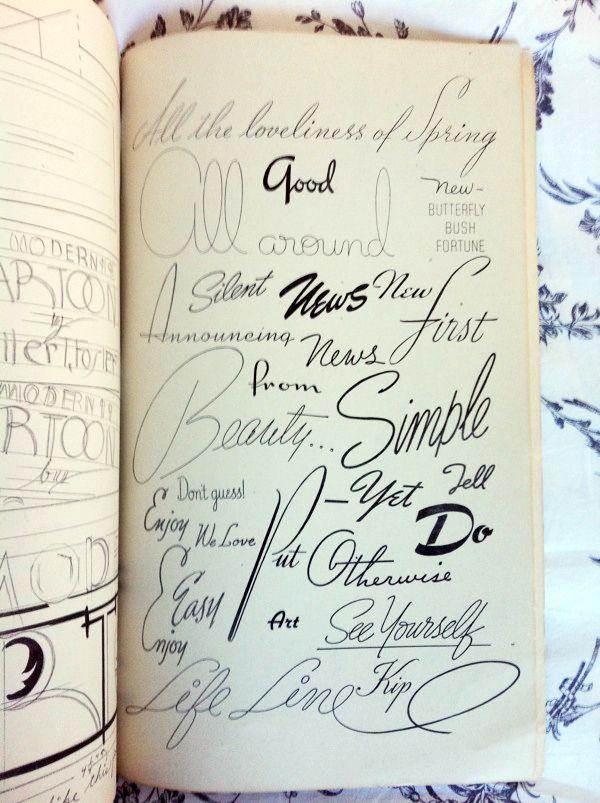 ABC of Lettering by Carl Holmes. Y todos queremos un cuadernillo que luzca así!