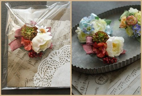 【コサージュ】お好きな花合わせ|Flower note の 花日記 (横浜・上大岡 アレンジメント教室)