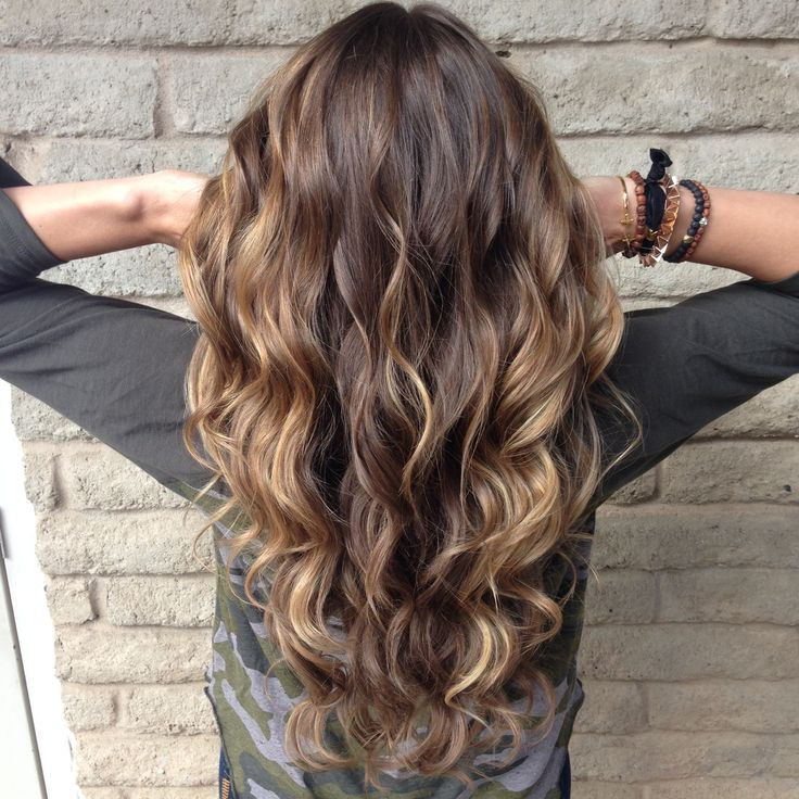 Balayage highlights. Sun kissed hair