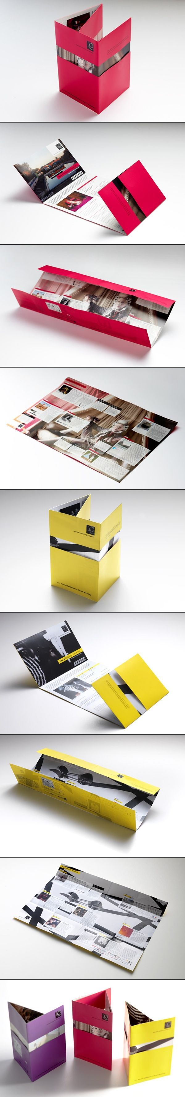 Interesting multi-fold poster brochure – nifty idea for revealing designs