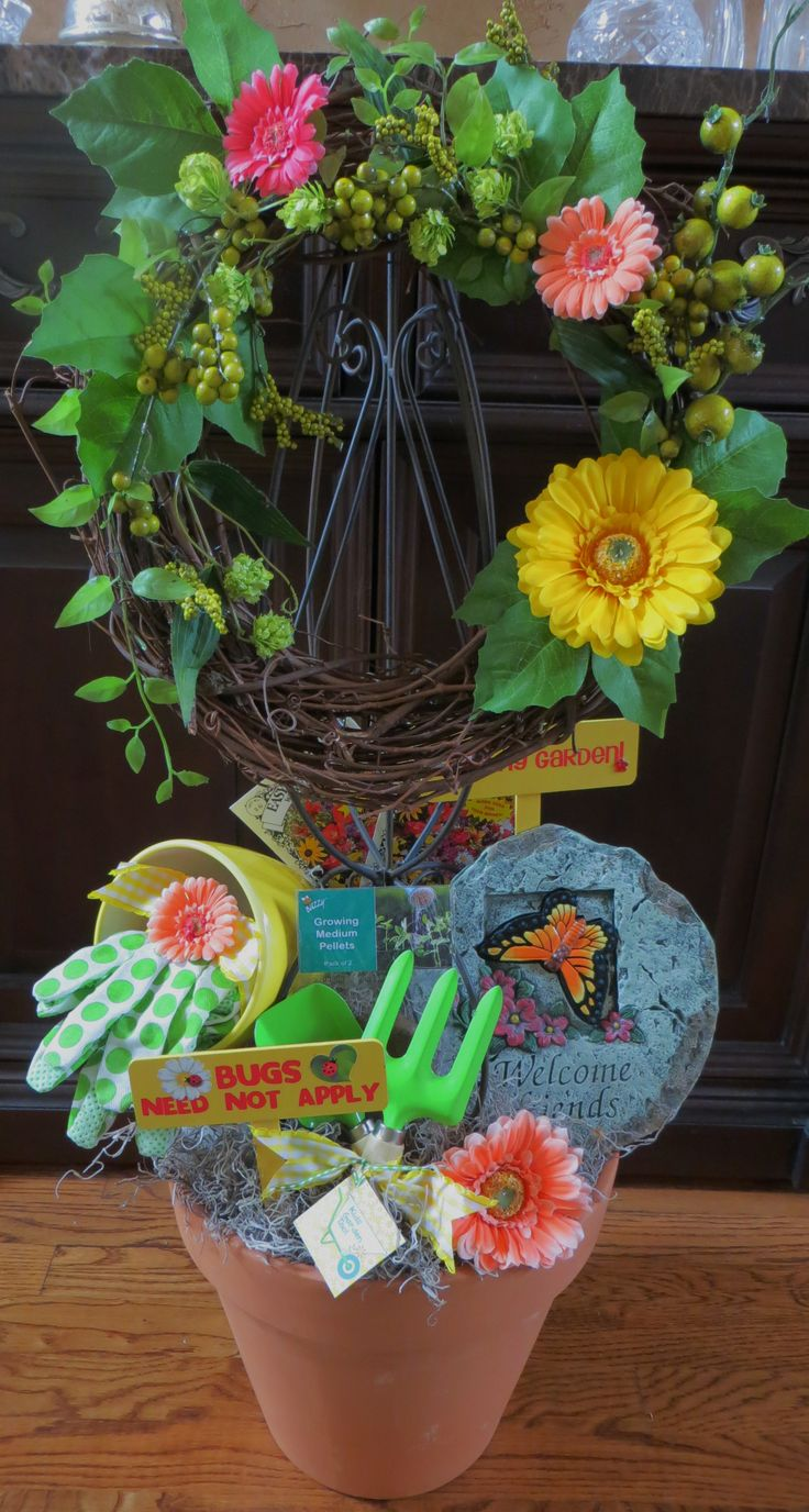 1000 images about custom charity gift baskets on for Gardening tools gift basket