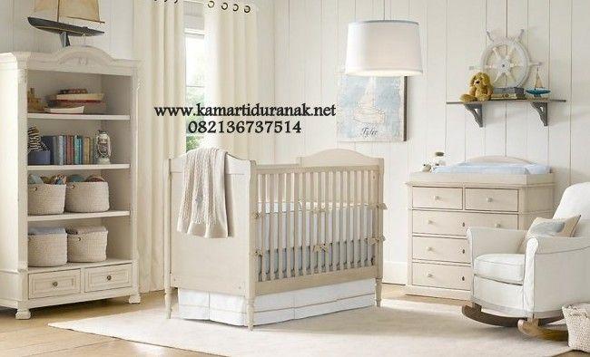 Jual Set Kamar Bayi Warna Putih Minimalis Nayda