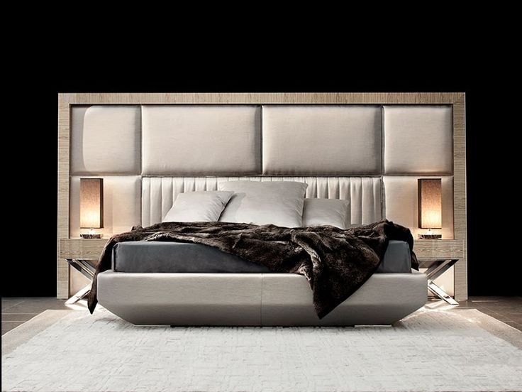 WOODEN DOUBLE BED WITH UPHOLSTERED HEADBOARD KIMERA CAPITAL DECOR COLLECTION BY CAPITAL COLLECTION BY ATMOSPHERA