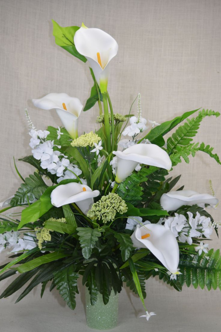 No.C0133 Spring Cemetery Arrangement. , Spring Cone Flower, Cone Arrangement,Grave,   Tombstone arrangement,  Cemetery flowers by AFlowerAndMore on Etsy