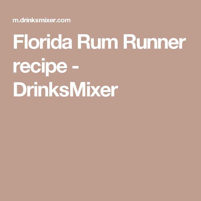 Florida Rum Runner recipe - DrinksMixer