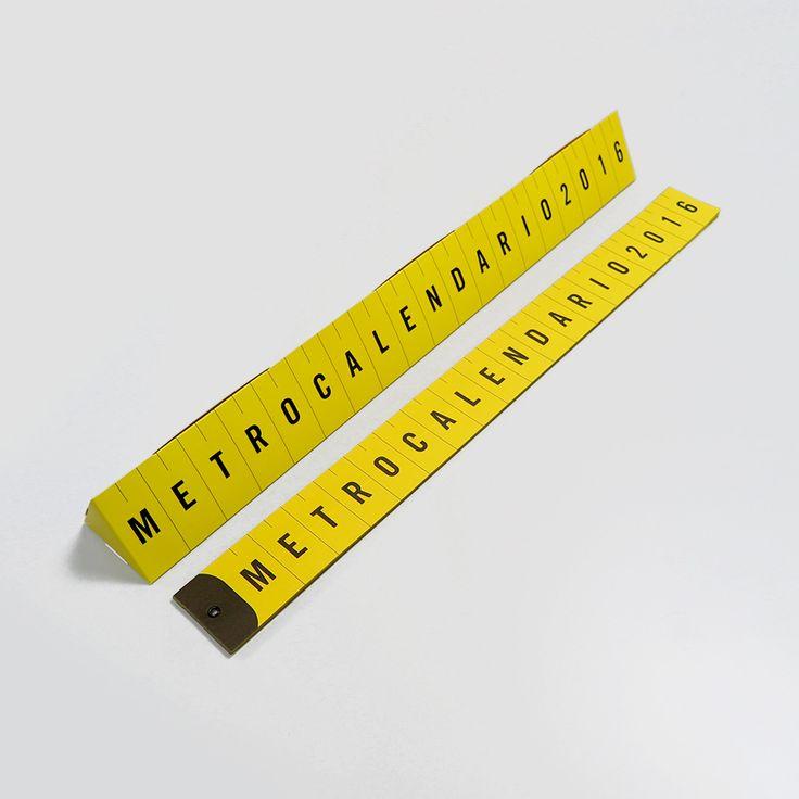 Metrocalendario: Un calendario inspirado en la cinta métrica de costura de toda la vida.