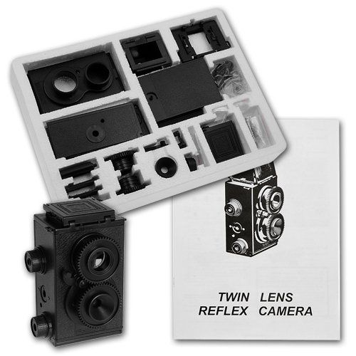 Fun project to build with the kids.   Genuine Fotodiox DIY Lomo Camera, Twin Lens Reflex, TLR Camera Kit (68 Pieces, with Detailed Instructions, Uses 35mm 24 Exposure B&W or Color Film) Fotodiox