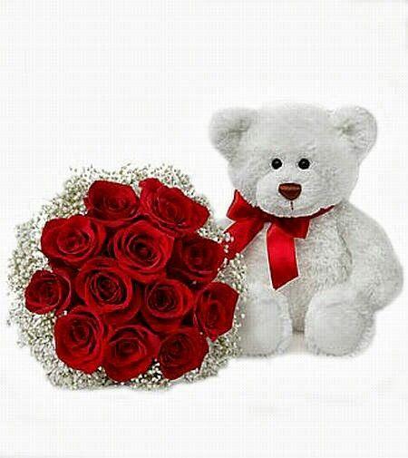 Αρκουδάκι λουτρινο μαζί με κόκκινα Τριαντάφυλλα ένα ωραίο δώρο για του Αγίου Βαλεντίνου.  valentine day | online triantafylla | ARKOYDAKI GIA TON VALENTINO | TRIANTAFYLLA ARKOYDAKI | DORO GIA EKEINON