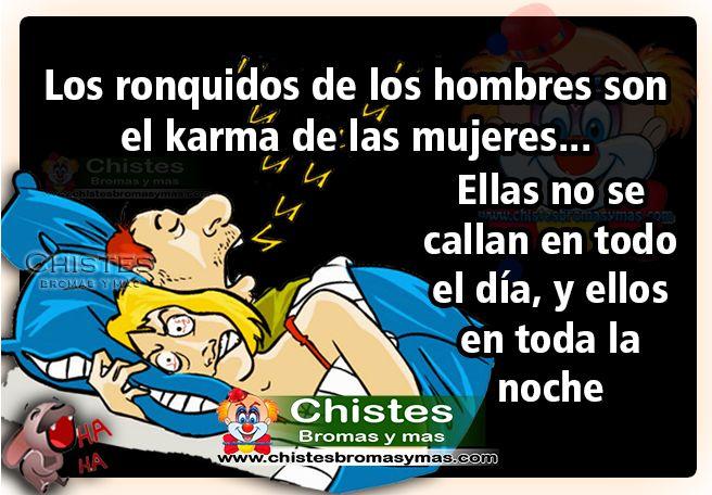 Chiste: Los ronquidos de los hombres | Chistes Bromas y mas