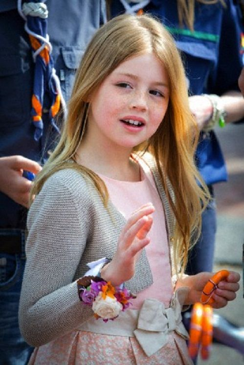 Dutch Princess Alexia attends the 2014 King's Day celebrations in De Rijp