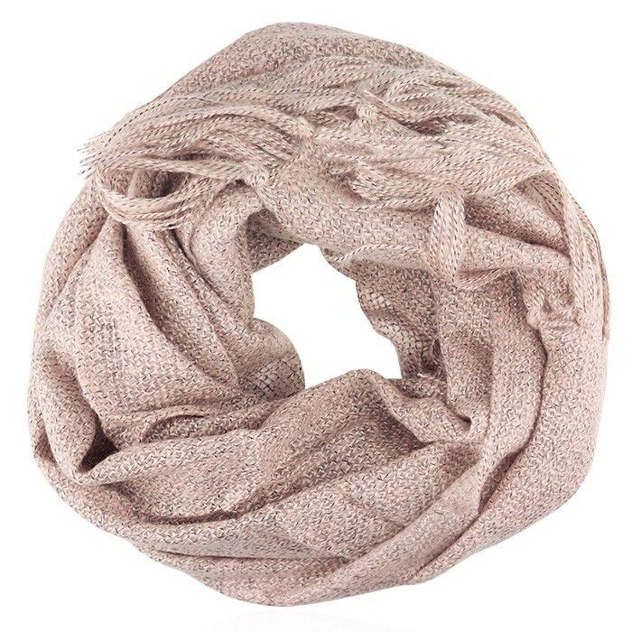 Gebreide oud roze sjaal, sjaals